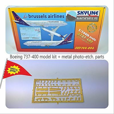 Plastic Aircraft Model Kit SKYLINE Boeing 737-400 Brussels Airlines Scale 1/144