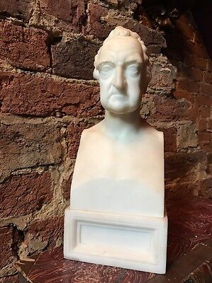 Antique 19th Century Solid Marble Portrait Bust Of A Man