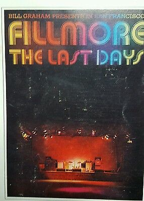 Fillmore the Last Days album insert book Bill Graham Presents