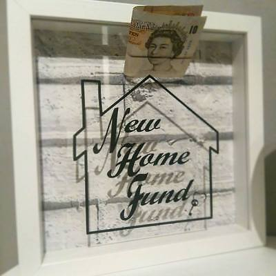 New Home Fund Box Penny Saving Moneybox Frame House Fund