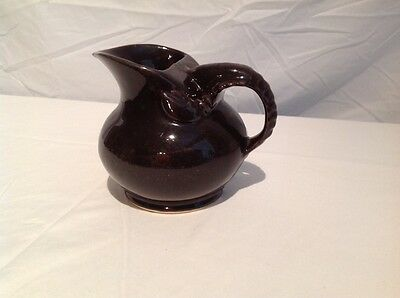 "Rare Shawnee Lobster Ware Creamer, Van Dyke Brown, ""USA"" ""909"", 4 1/2"" tall"