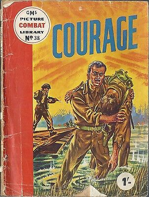 GMS Combat Picture Library #38 Courage Military War comic 1960's British rare