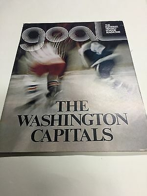 NHL hockey program Washington Capitals first home game ever 15 October 1974