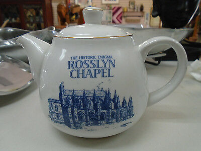 RARE The Historical Enigma ROSSLYN CHAPEL China TEAPOT