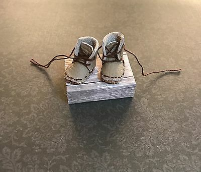 Blythe Doll Boots - Handmade Beige Coloured Real Leather With Shoebox