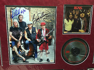 AC DC Autographed photo - Highway to Hell CD