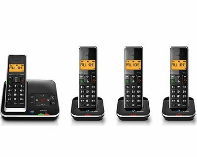 BT Xenon 1500 Cordless Phone with Answering Machine: 4 Handsets