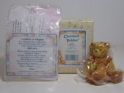 Rare Cherished Teddies Brenda Girl Indian 912816 Enesco Boxed Retired