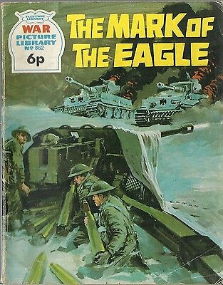 War Picture Library #862 THE MARK OF EAGLE Fleetway War comic book British 1970s
