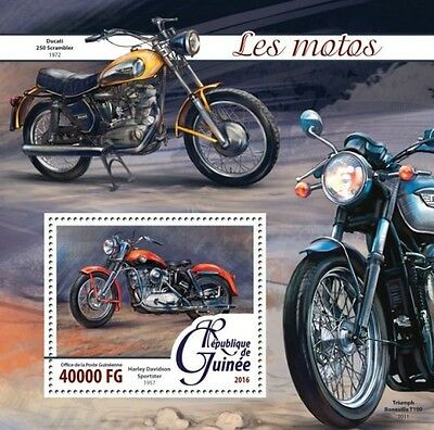 Z08 IMPERFORATED GU16216b GUINEA (Guinée) 2016 Motorcycles MNH