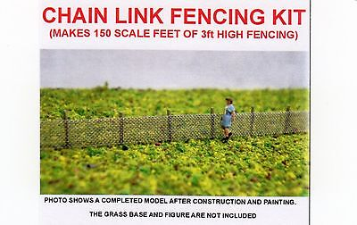 Chain Link Fencing Kit ~ Scenery For Model Rail N Scale, Brand New