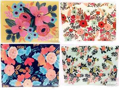 A4 File Floral Vintage Flowers Plastics Folder Wallet Plastic Filing Popper File
