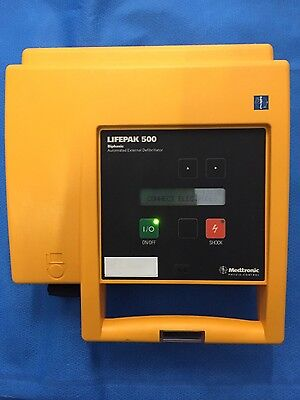Medtronic Physio Control LifePak 500 Biphasic w/ Battery
