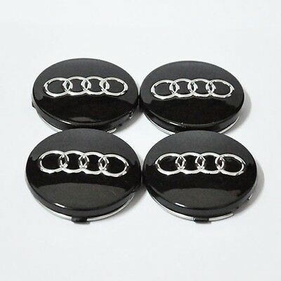 4pcs 60mm black WHEEL CENTER HUB CAP RIM CAPS for AUDI A3 A4 A6 A8 TT 4B0601170