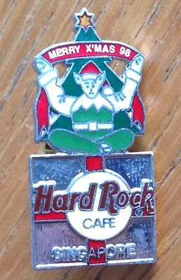Singapore 1996 Christmas Hard Rock Cafe Pin Badge Rare Vintage Authentic (D5)