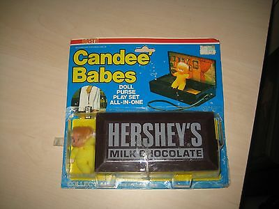 Nasta CANDEE BABES Hershey's Milk Chocolate Doll and Plastic Purse Case MINT HTF