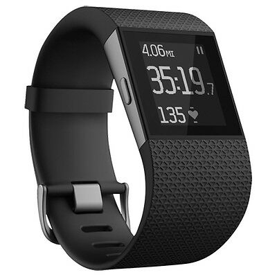 Fitbit Surge Smartwatch With GPS & Heart Rate Monitor - Large - Black