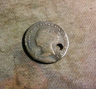 1843 Great Britain 4 Pence Silver Foreign Coin VERY RARE DATE ((54))