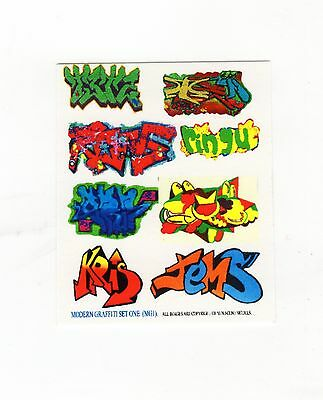 Modern Graffiti Transfers ~ Decals For Model Rail N Scale, Brand New 95650