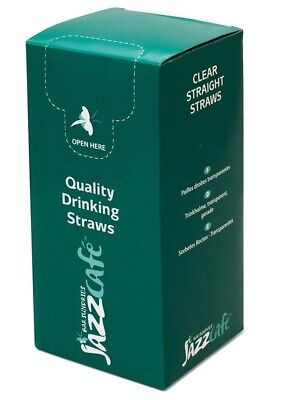 9mm Unwrapped Clear Jumbo Smoothie MilkShake Straws, Boba Pearl  Bubble Tea