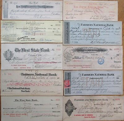 Antique Checks, 100+ DIFFERENT QUALITY- ALL Pictured, Most 1870-1910, All Issued