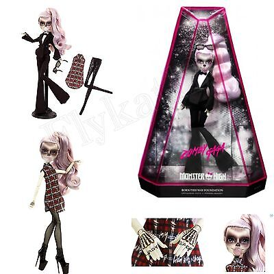 Monster High Zomby Gaga Lady Gaga Born This Way Exclusive Collectors Zombie Doll