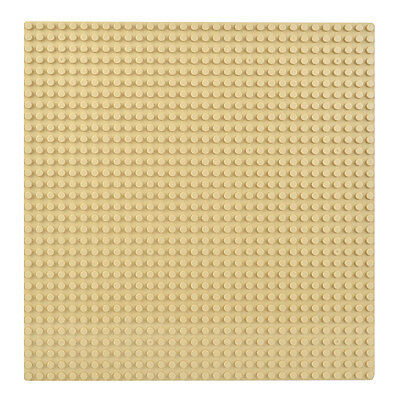 x2 desert sand color minifigure building Baseplate 32x32 Dot compatible for Lego