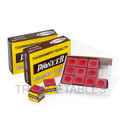 Pioneer Tournament Quality Red Chalk for Pool Snooker Billiard - 24Pcs / 36Pcs