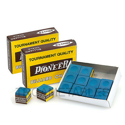 Pioneer Tournament Quality Blue Chalk for Pool Snooker Billiard - 24Pcs / 36Pcs