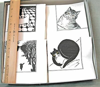 135 Vintage CAT ART Paper Cocktail Napkins MMA Metropolitan Museum, made in USA