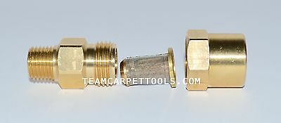 "In-line Filter Brass 1/4""  for Carpet Cleaning Wands & Hoses Truckmount Portable"