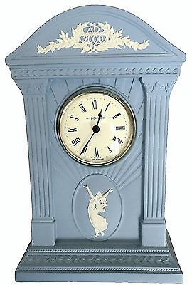 Beautiful Antique England Wedgwood Ad2000 Blue Jasperware Millennium Clock Works