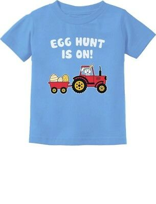 Easter Egg Hunt Gift for Tractor Loving Kids Toddler/Infant Kids T-Shirt Easter