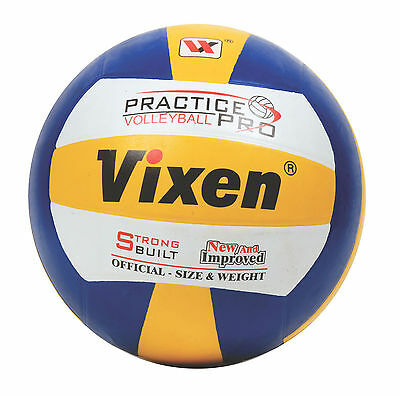 Vixen Training Rubber Moulded Blue Volleyball Practice Ball, 8 Panel - Size 4