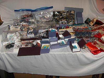 Large Lot  Jewelry Glass Beads Polished Stones Necklaces Charms Etc. $400.00+