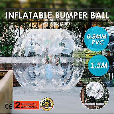 1.5M Inflatable Bubble Bumper Zorb Ball TPU Football Soccer Non-toxic Human