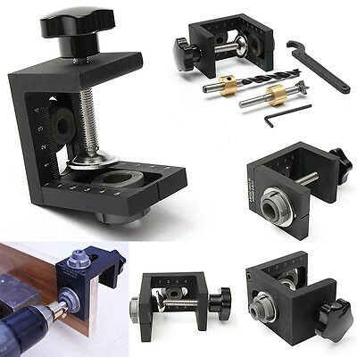 Mini Style Pocket Hole Kit + Step Drilling Woodwork Joint Tool Kit Bit