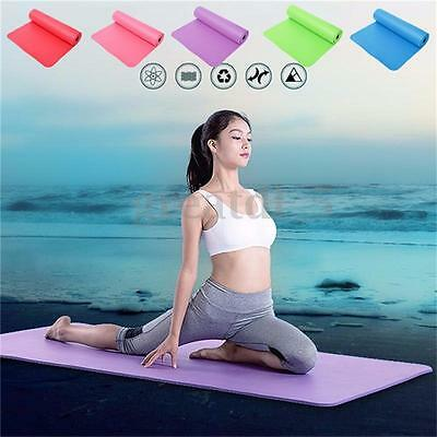 183CM Antidérapant Natte Tapis de Yoga Pilates Musculation Fitness Gym Exercice