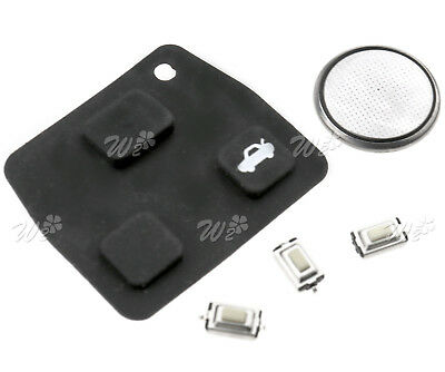 3 Button Car Remote Key Fob Repair Kit Switch Rubber Pad For Toyota Coroll
