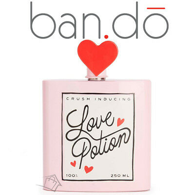 NEW Ban.Do Love Potion Flask Alcohol Heart Valentine's Day Gift Pink Bando Hip