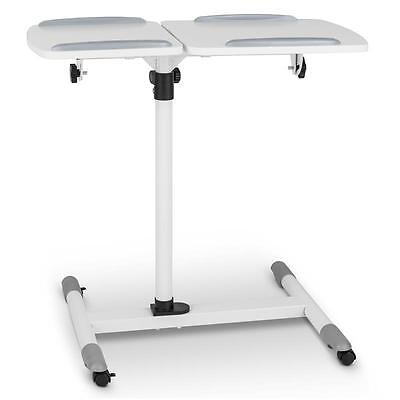 WHEELED PROJECTOR TABLE ADJUSTABLE SHELF HEIGHT TILTING STAND TROLLEY 10kg MAX
