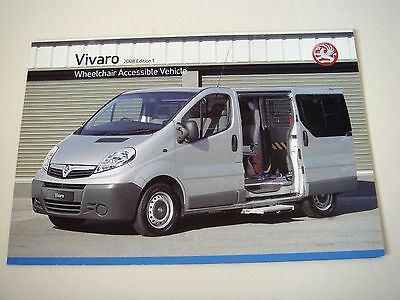 Vauxhall . Vivaro . Wheelchair Accessible . 2008 Models Edition 1. Sales Leaflet