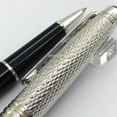 Luxury Silver Wave Pattern Texture Rollerball Pen High Quality