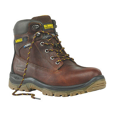 Dewalt Men's Titanium Waterproof Steel Toe Safety Hiker Boots Brown
