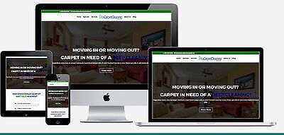 Carpet Cleaning Marketing Website + Carpet Cleaning Web Commercials
