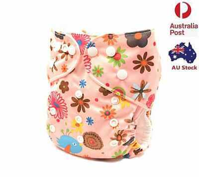 Modern Cloth Nappies Reusable  Adjustable Girly Diaper Size (0-2 years) (D154)
