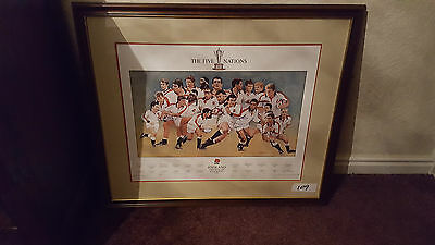 Rugby the five nations england grand slam champions 1995 Signed Limited Edition