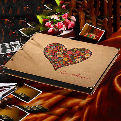 10 inch Scrapbook Photo Album DIY Mount Black Sheets Refill Pages Self Sticking