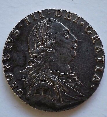 1787 Sixpence - George Iii British Silver Coin  A/unc