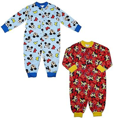 Boys Disney Mickey Mouse, Jake Neverland Pirates Lightweight All in One Pyjamas